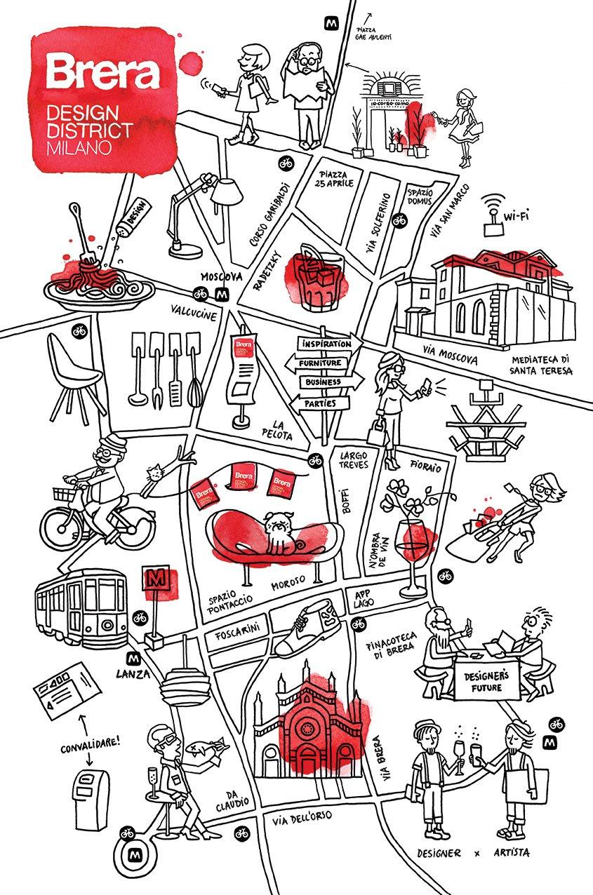 Fuorisalone 2015 le iniziative del brera design discrict for Design della mappa di casa