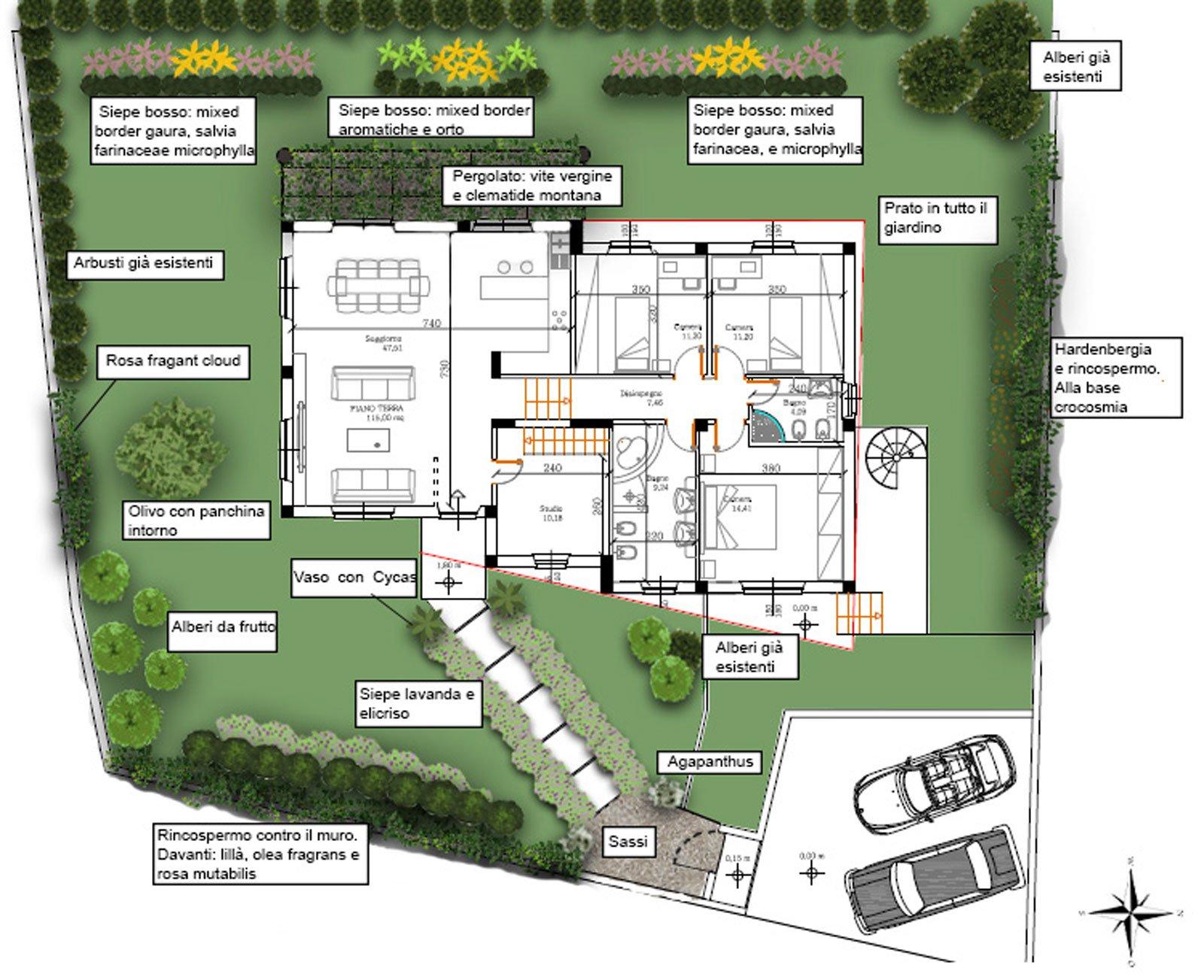 Casabook immobiliare un progetto per il giardino della for Progetto aiuole per giardino