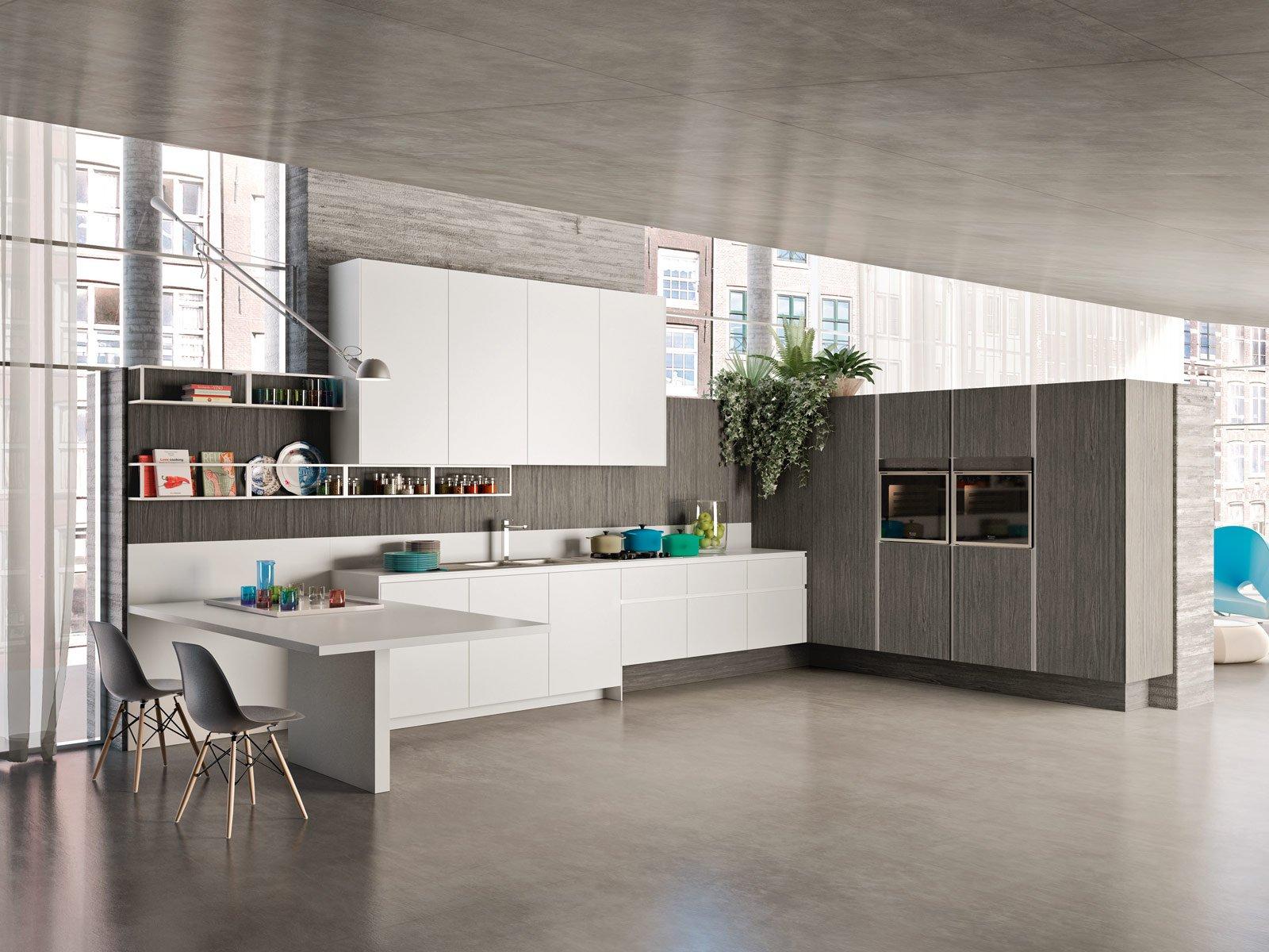 Cucine effetto legno per un ambiente caldo ed elegante - Parquet per cucine ...