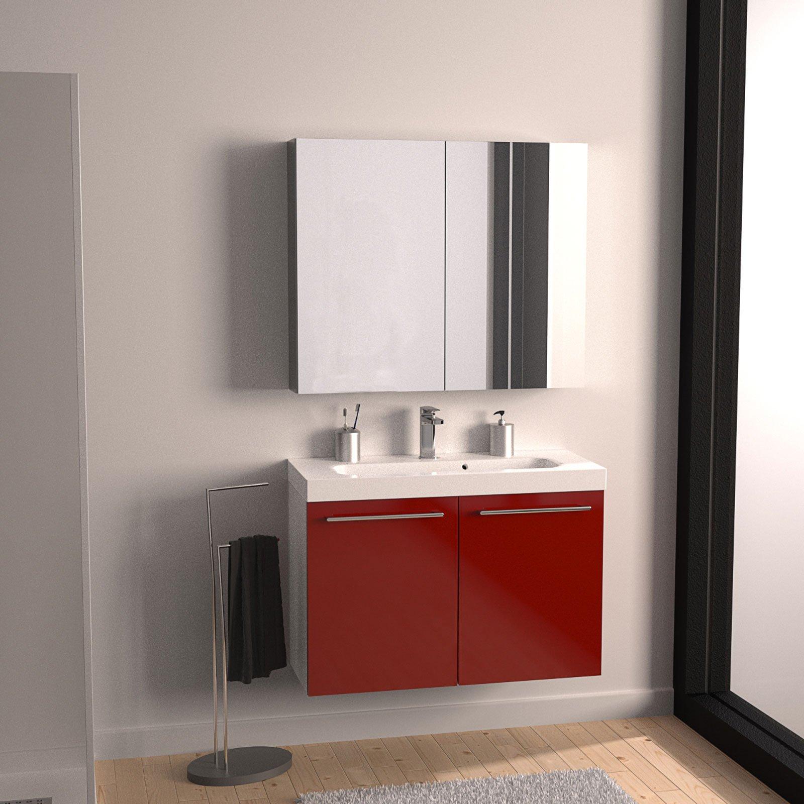 Mobili bagno con ante cose di casa - Mobile bagno doppio lavabo leroy merlin ...