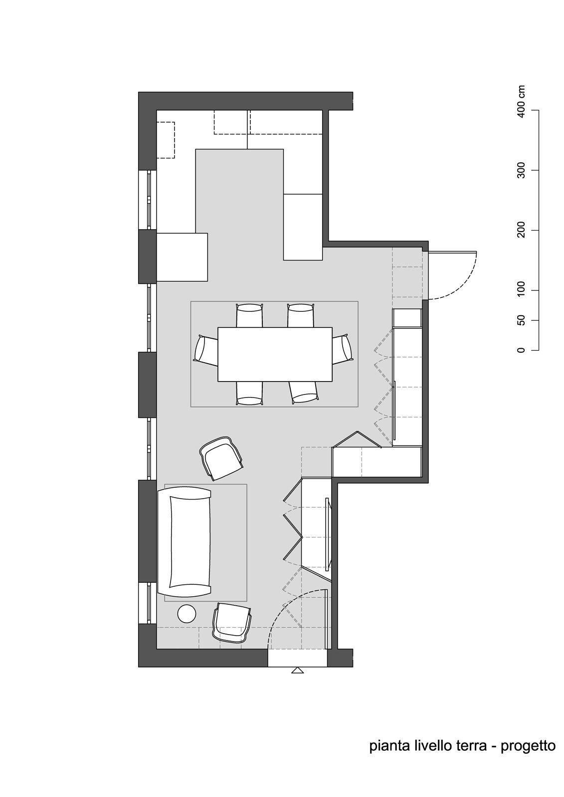 Riarredare il soggiorno progetto in 3d e pianta cose di for Arredare soggiorno rettangolare