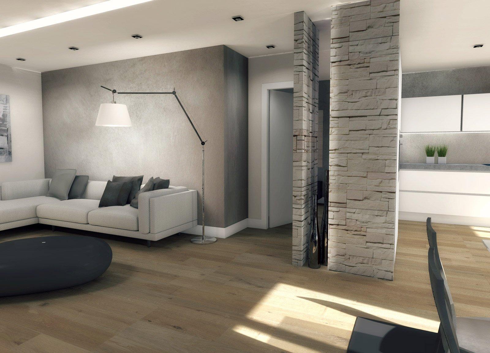 Come arredare il soggiorno e in camera ricavare la for Arredare parete