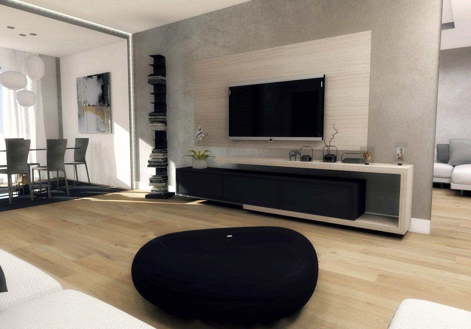 Mobile soggiorno cartongesso idee per il design della casa for Mobile parete sala