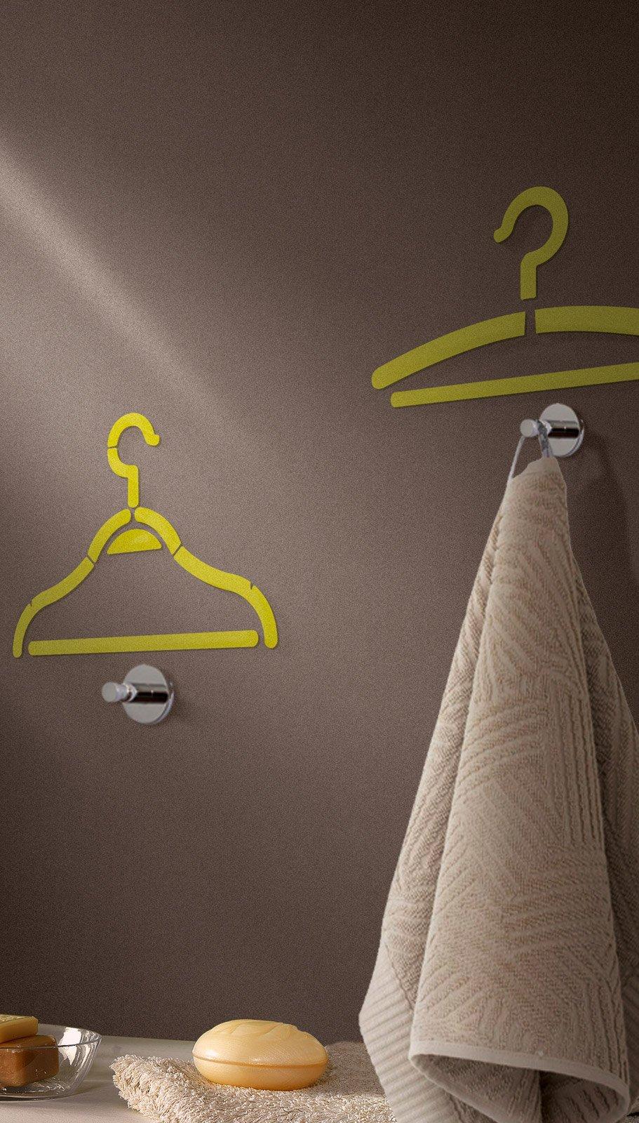 In bagno, décor a parete: senza le piastrelle e contenendo i costi ...