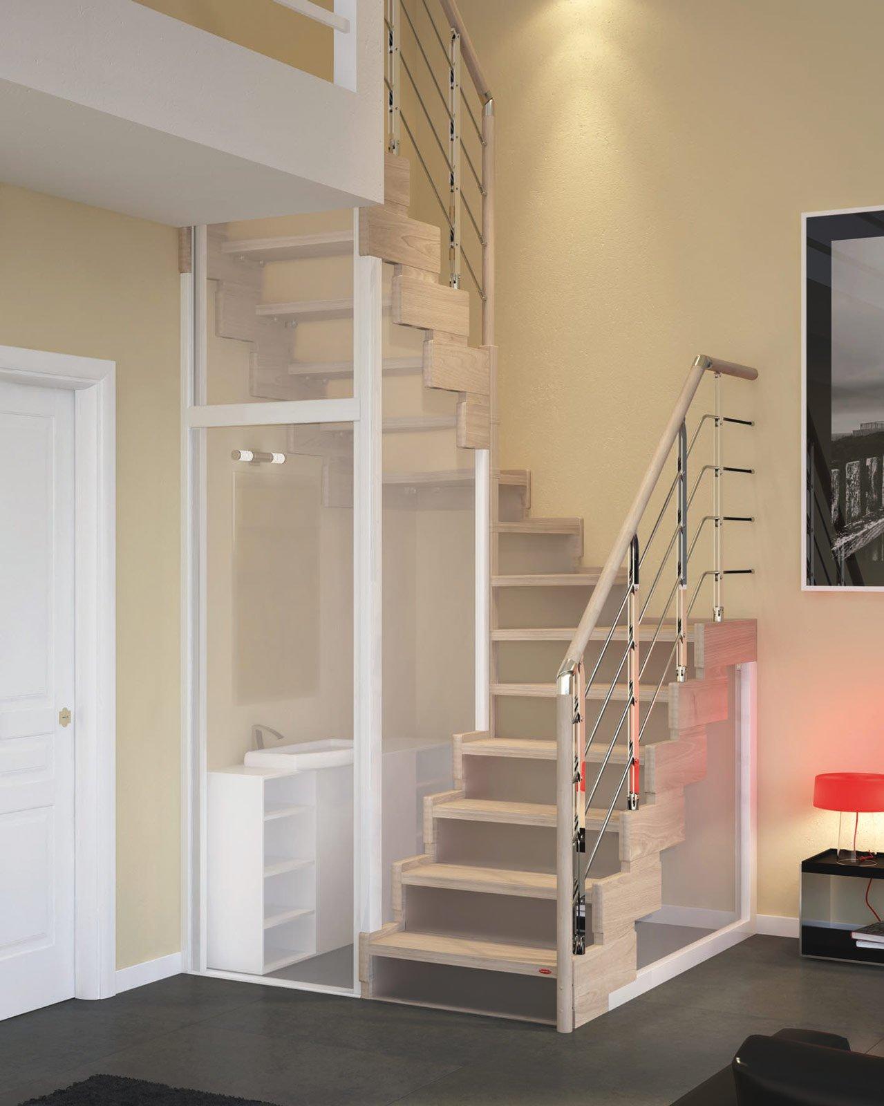 Recuperare spazio in casa soluzioni per dividere - Scale interne piccoli spazi ...