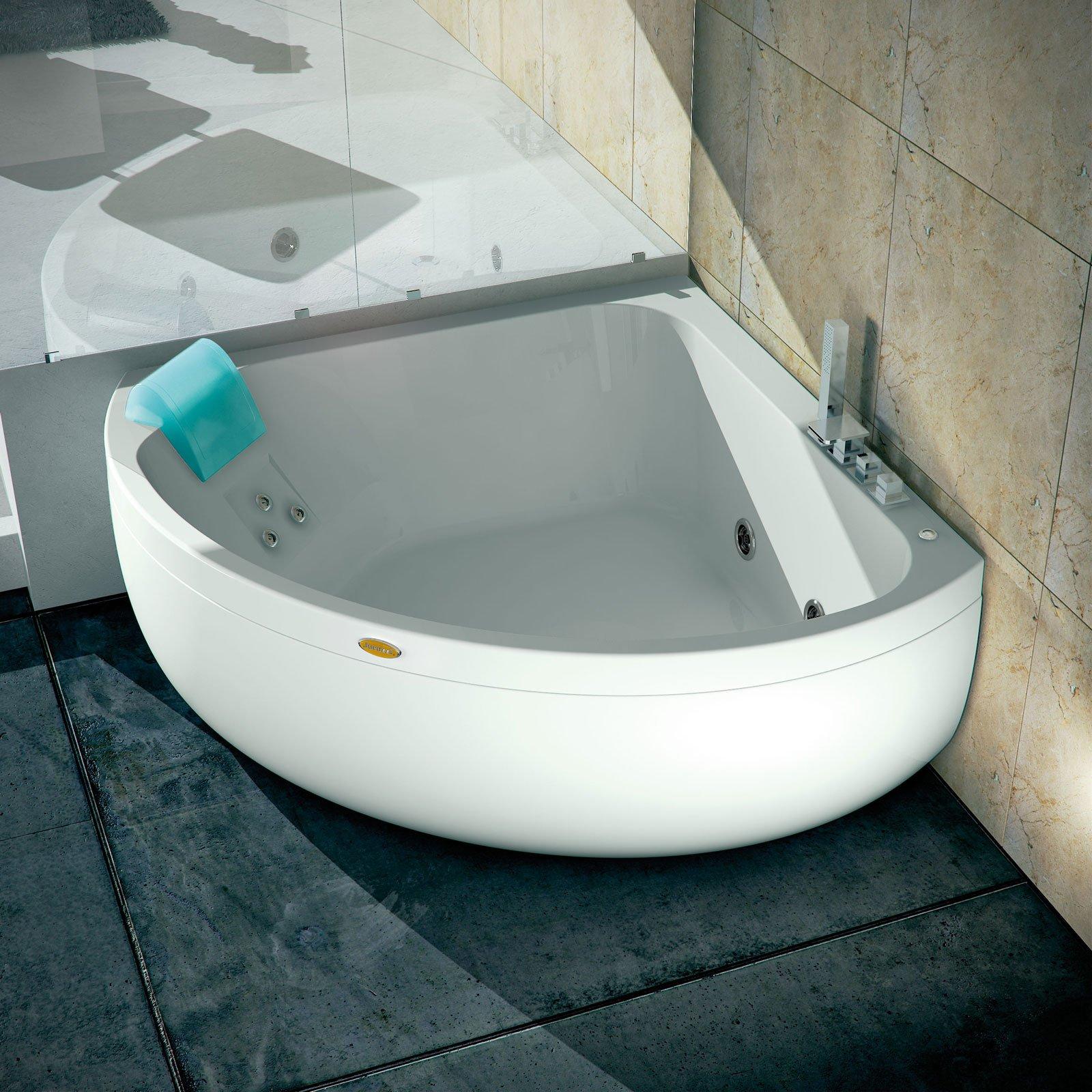 Vasche da bagno in acrilico leggere e antiscivolo hanno - Vasca da bagno angolare misure ...