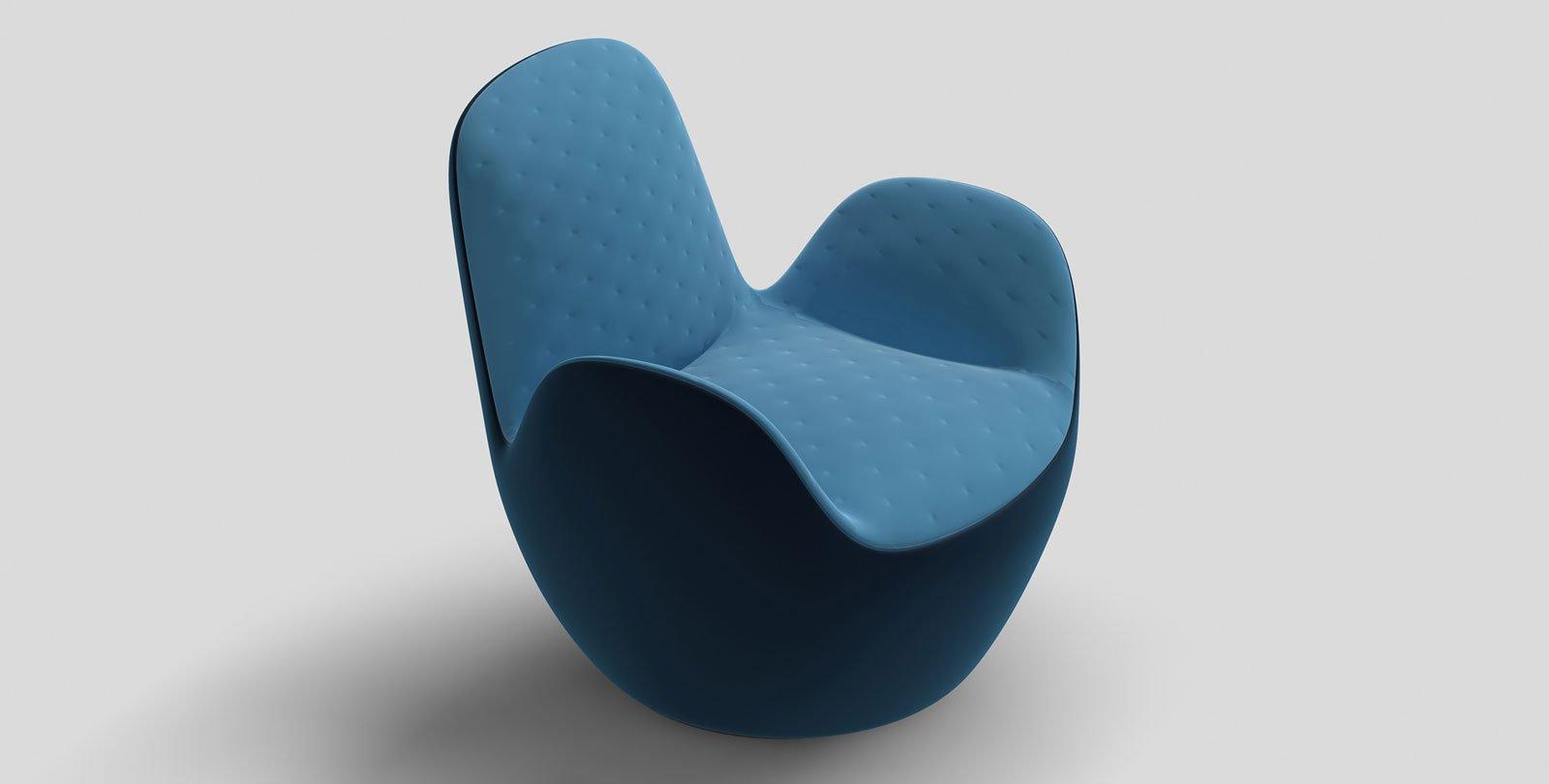 Aircell di Roche Bobois è una seduta girevole a memoria di posizione con una silhouette innovativa; è rivestita esternamente in pelle, internamente in pelle trapuntata o in tessuto matelassé. Misura L 77 x P 85 x H 77 cm.  www.roche-bobois.com