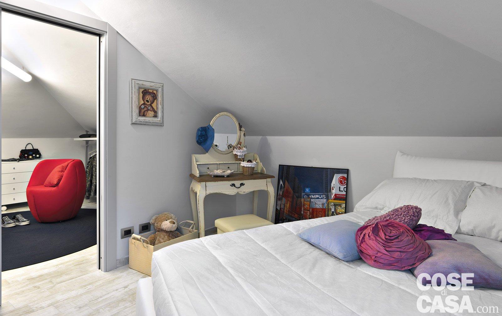 Trilocale di 96 mq recupero creativo per la mansarda cose di casa - Camera in mansarda ...
