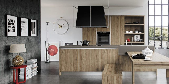 Cucine Moderne Bianche Effetto Legno.Cucine Effetto Legno Per Un Ambiente Caldo Ed Elegante Cose Di Casa