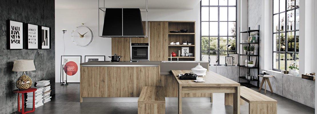 Cucine effetto legno per un ambiente caldo ed elegante for Arredo terrazzo napoli