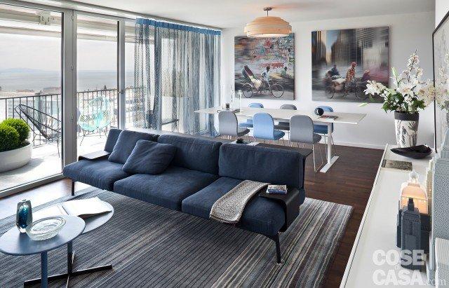 arredare il soggiorno a tinte soft e rilassanti - cose di casa - Soggiorno Pareti Azzurre
