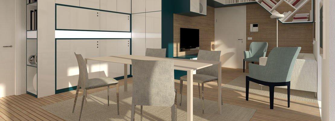 Riarredare il soggiorno progetto in 3d e pianta cose di for Progetto soggiorno