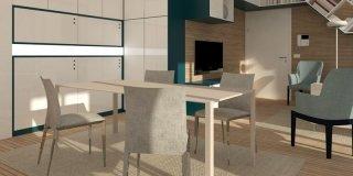 Riarredare il soggiorno: progetto in 3D e pianta
