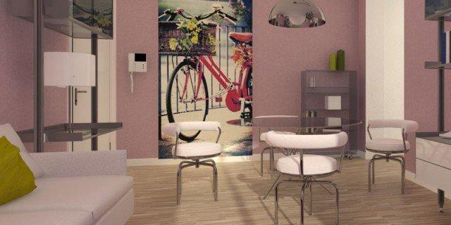 Per il soggiorno piccolo, strutture leggere e trasparenti