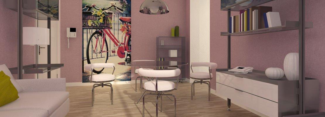 Per il soggiorno piccolo, strutture leggere e trasparenti ...