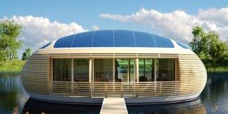 Una casa ecologica sospesa sull'acqua