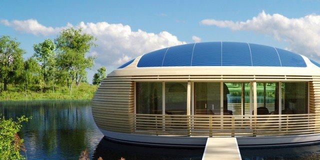 Una casa ecologica sospesa sull acqua cose di casa - Casa autosufficiente ecologica ...