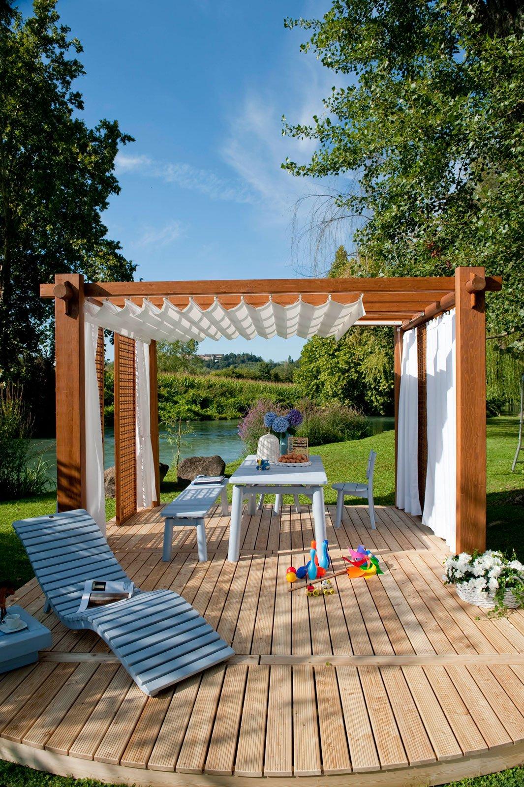 Tende e protezioni per il sole per una stanza in pi all for Pergola bioclimatica prezzo mq