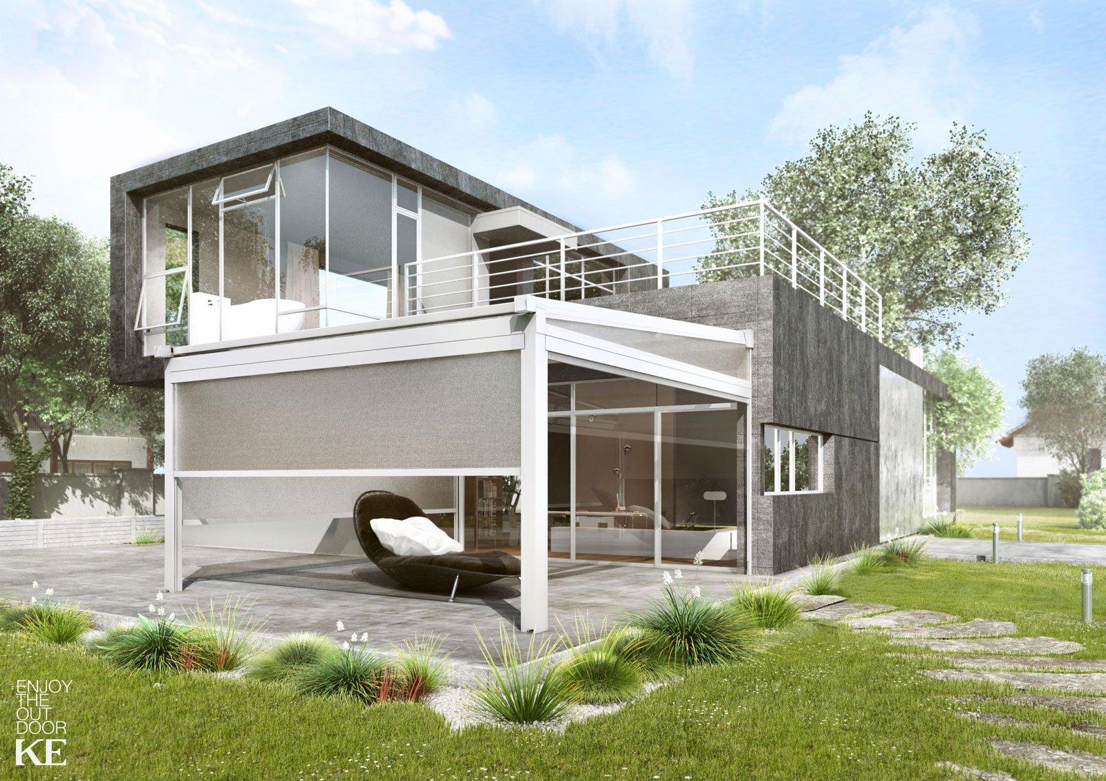Tende e protezioni per il sole per una stanza in pi all for Design moderno garage indipendente