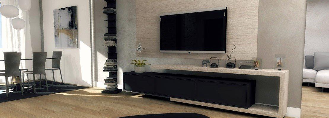 arredare soggiorno mobile tv : Come arredare il soggiorno e, in camera, ricavare la cabina armadio ...