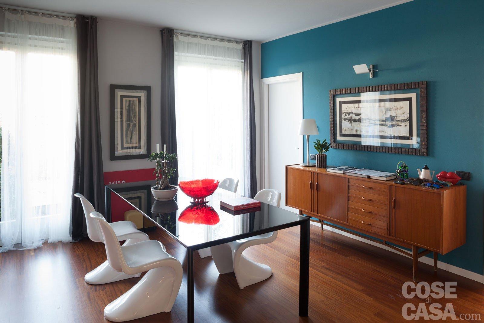 Una casa che punta sui contrasti e sul design cose di casa - Camera da letto in muratura ...