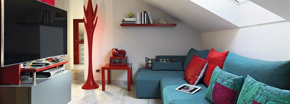 Trilocale di 96 mq recupero creativo per la mansarda cose di casa - Altezza minima finestre ...