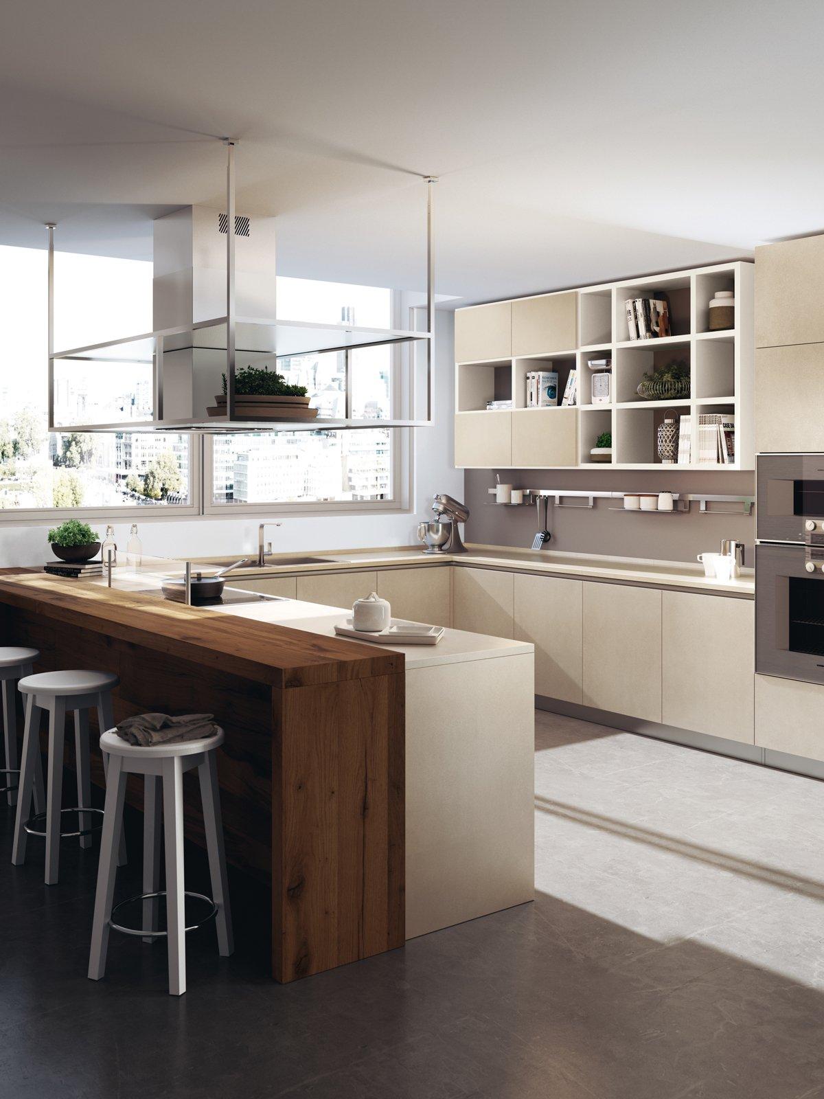 Cucine con grandi piani di lavoro cose di casa - Top cucina in vetro ...