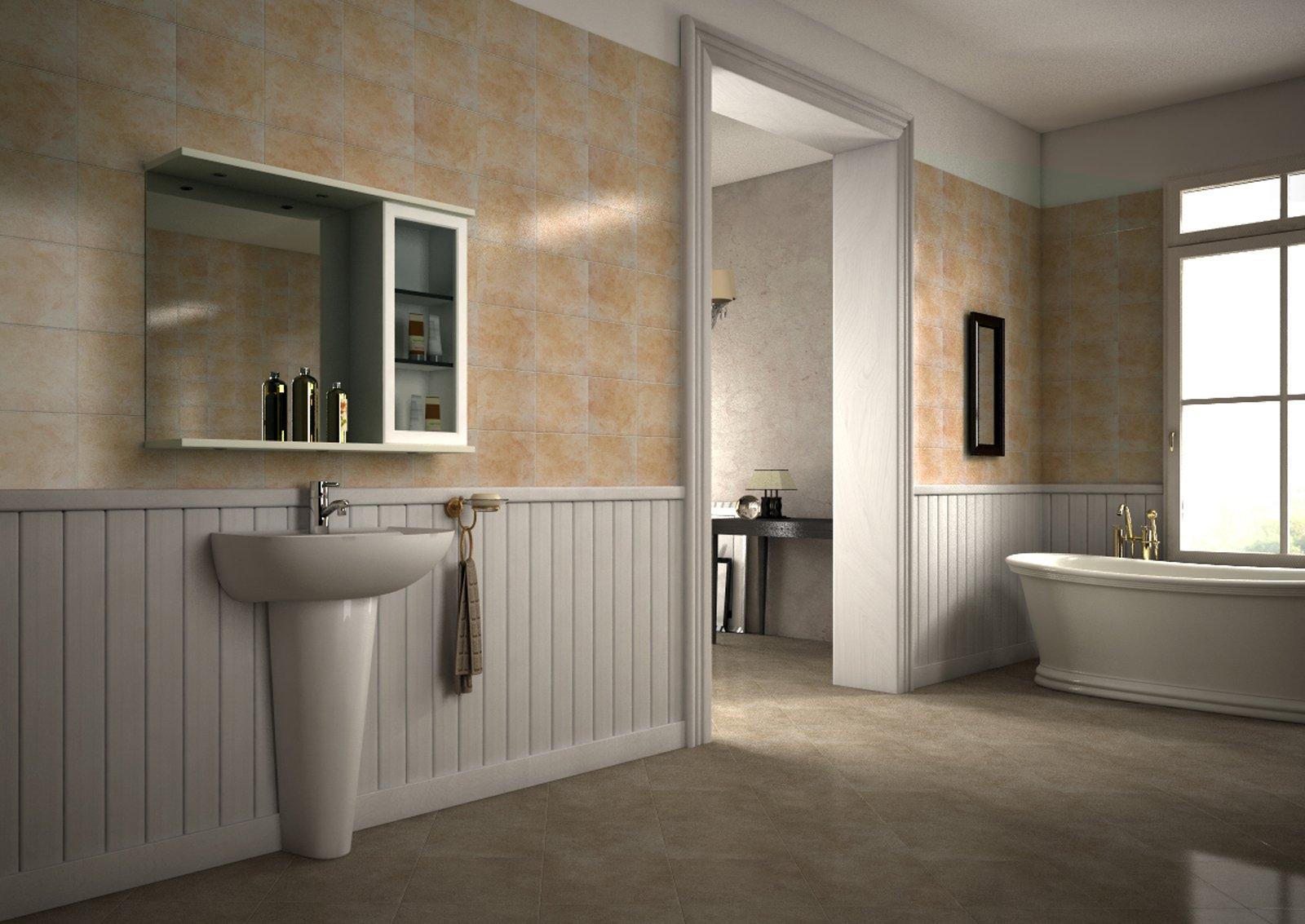 Rinnovare il bagno senza togliere le piastrelle risparmiando anche tempo cose di casa - Pareti bagno senza piastrelle ...