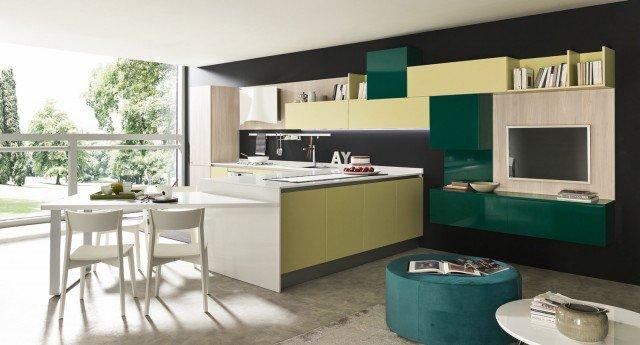 Il modello di cucina Marina di Febal Casa, esposta all'interno del nuovo punto vendita di Lanuvio, in provincia di Roma. www.febalcasa.it