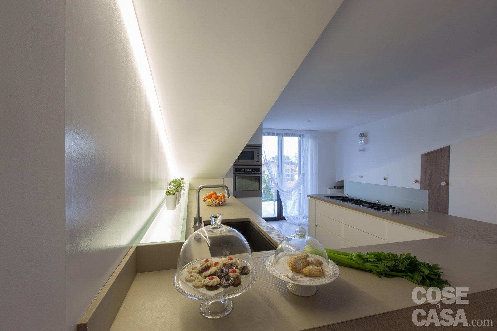 Pi luce nell 39 attico con mansarda cose di casa - Luce per cucina ...