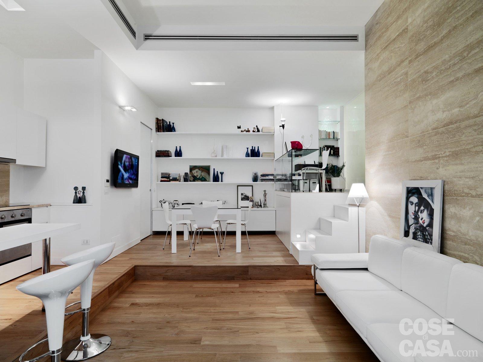 58 mq una casa sviluppata su pi livelli cose di casa for Lo space senza pareti