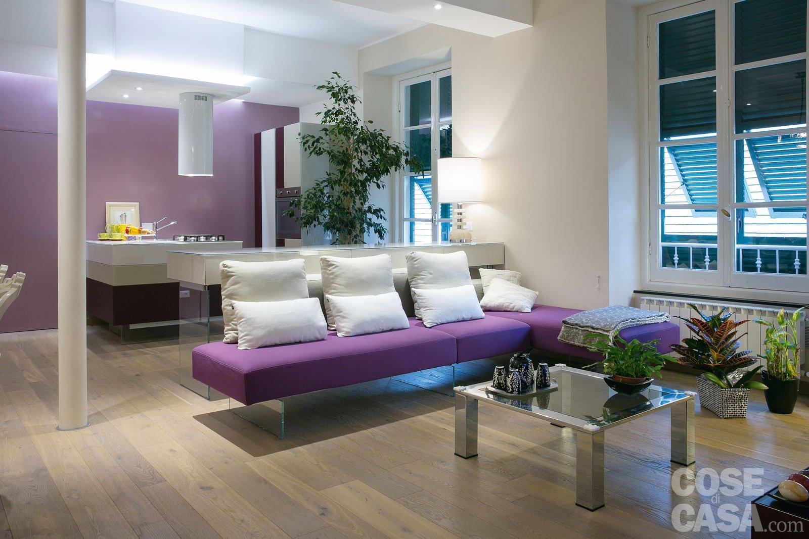arredamento salotto verde ~ idee per il design della casa - Soggiorno Verde E Marrone 2