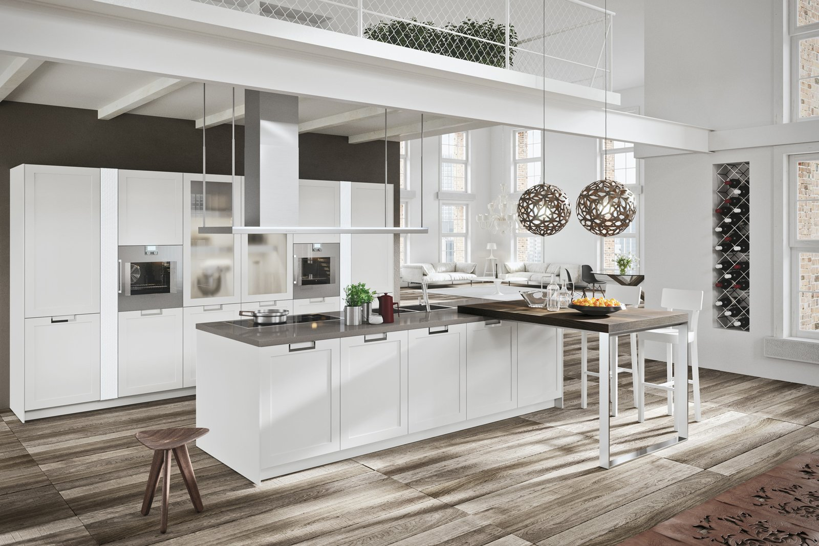 Cucine country chic soprattutto bianche o tinta legno for Negozio di metallo con appartamento