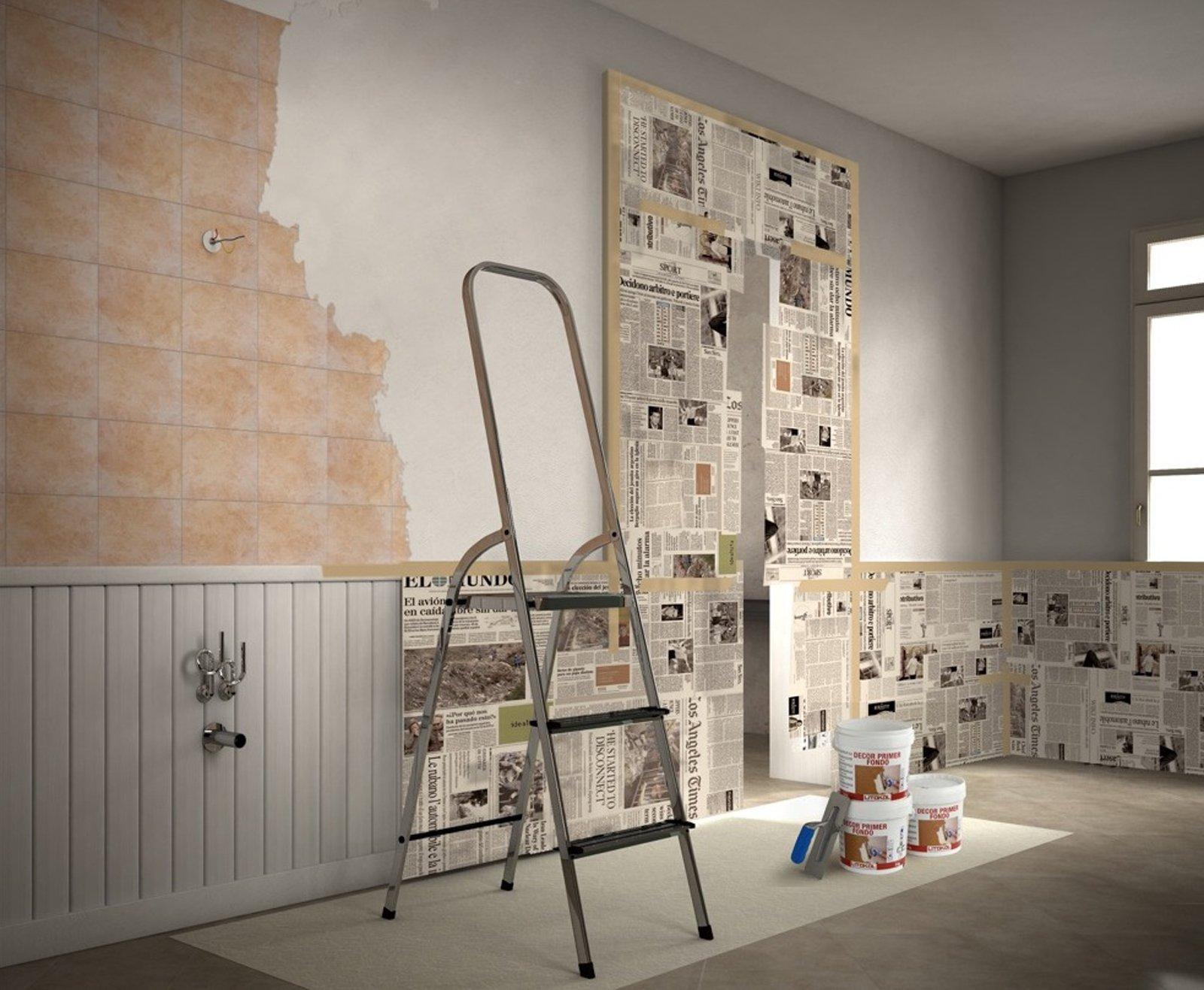 Rinnovare il bagno senza togliere le piastrelle for Disegni di interni