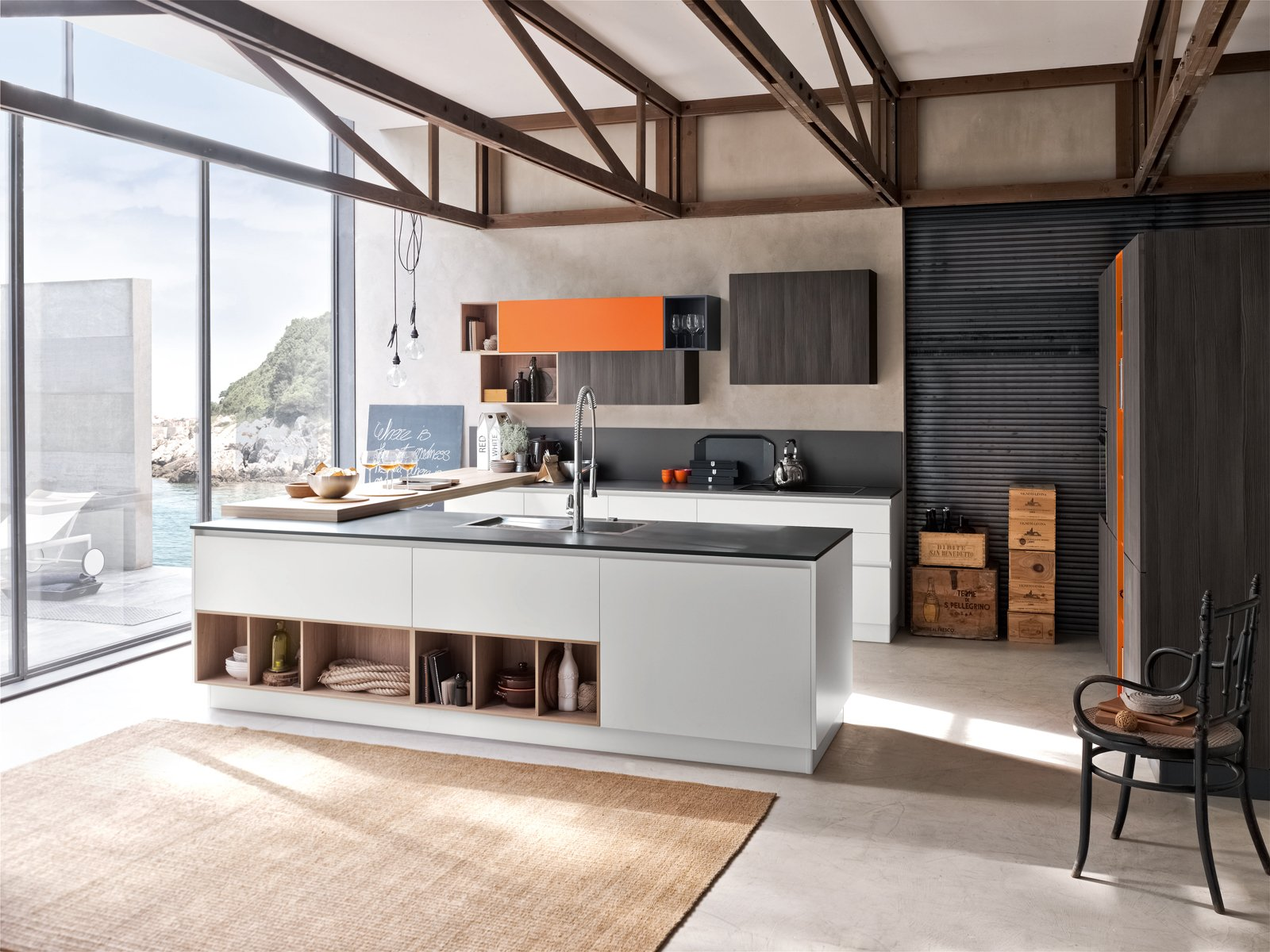 Cucine con grandi piani di lavoro cose di casa - Disegni di cucine ...