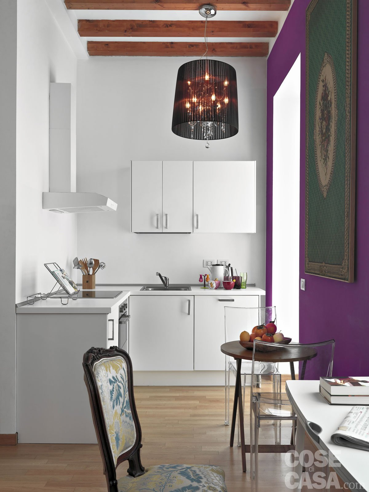 Una casa di 33 mq monolocale d 39 effetto cose di casa - Arredare cucina 4 mq ...