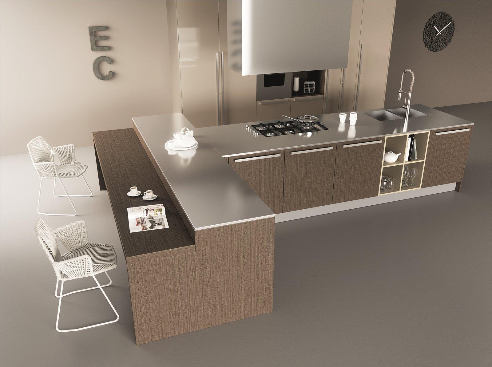 Cucine con grandi piani di lavoro cose di casa - Piano cucina okite prezzi ...