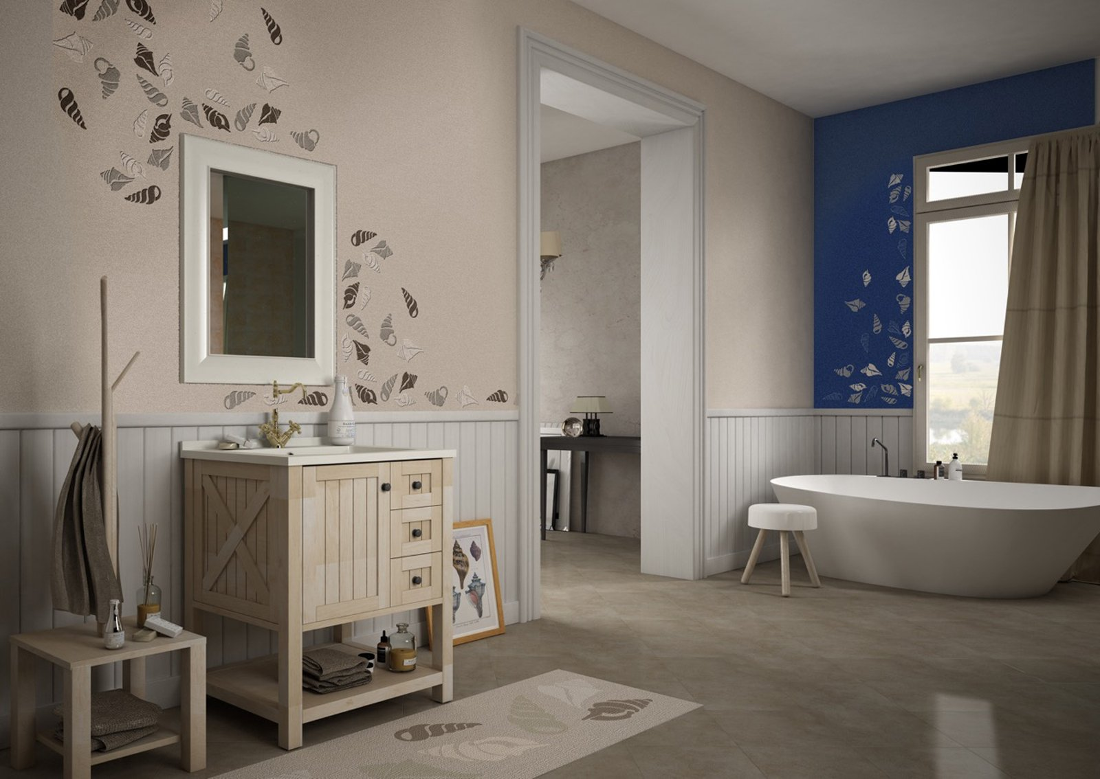 Rinnovare il bagno senza togliere le piastrelle - Resina per pareti bagno ...