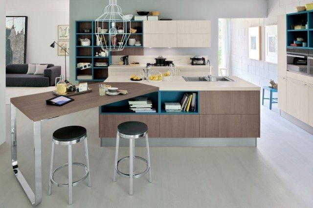 Cucine con grandi piani di lavoro cose di casa - Ikea barra cucina ...
