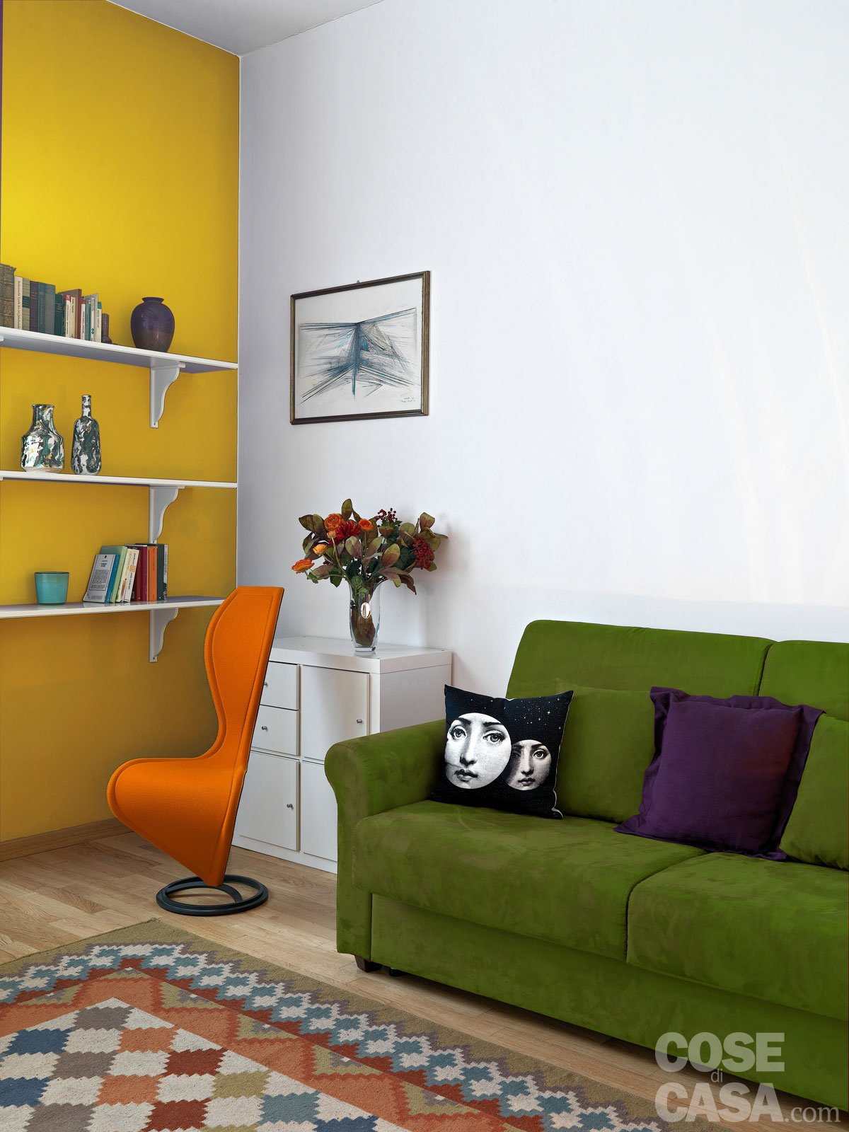 Cool abbinate toni verdi che gli sono vicini nella ruota dei colori la per analogia un criterio - Tinte pareti casa ...