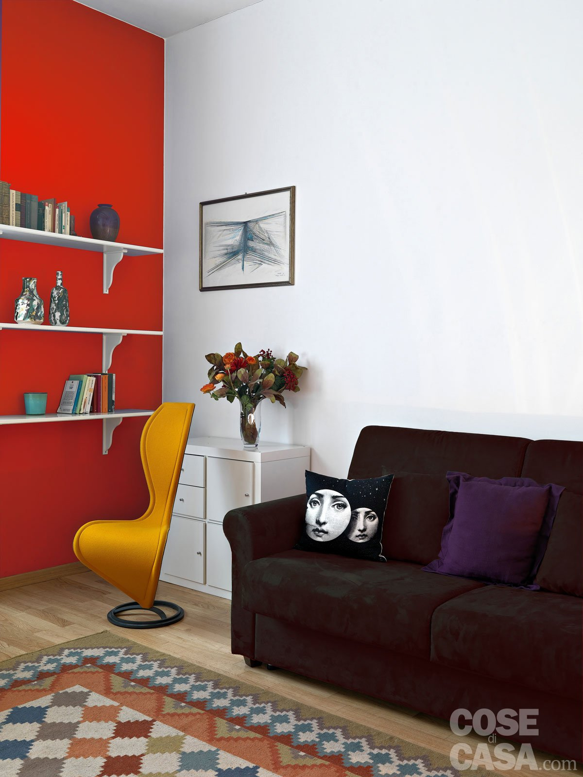 7-parete-rossa - Cose di Casa