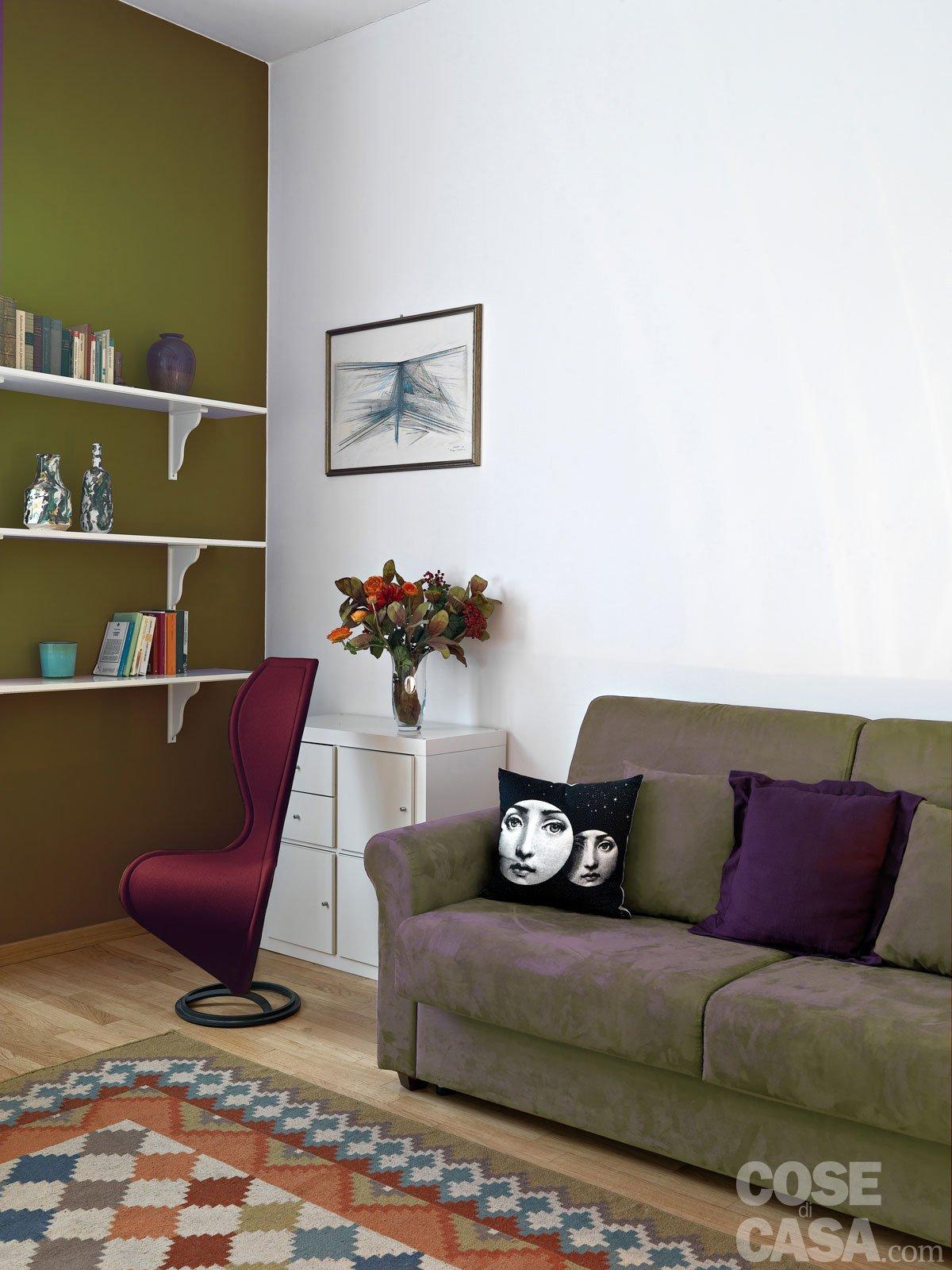 Pitturare le pareti i trucchi che ingannano l occhio cose di casa - Camera da letto verde mela ...