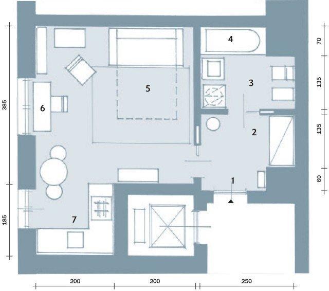 Una casa di 33 mq monolocale d 39 effetto cose di casa for Creare una pianta con dimensioni