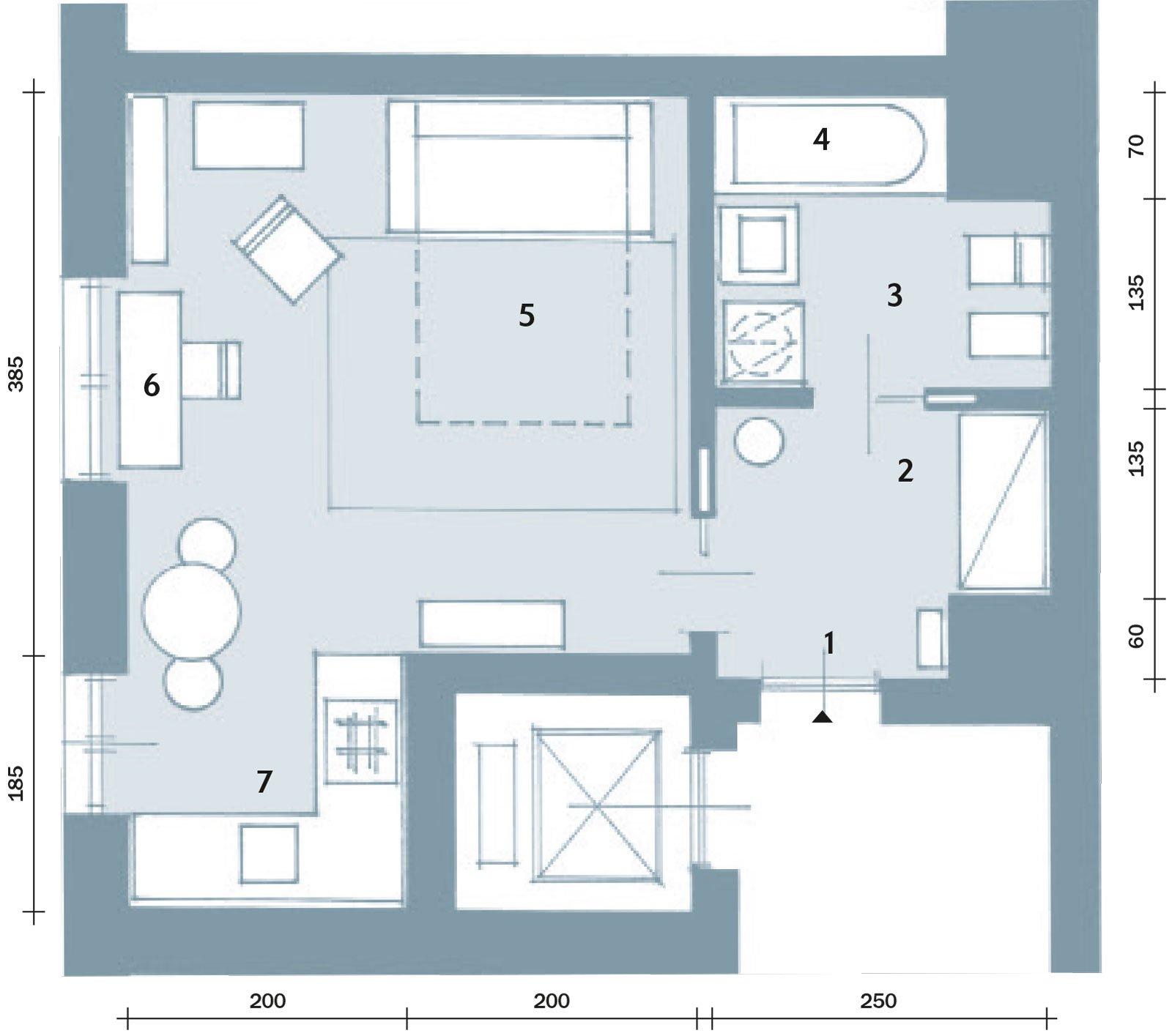 una casa di 33 mq: monolocale d'effetto - cose di casa - Misure Soggiorno