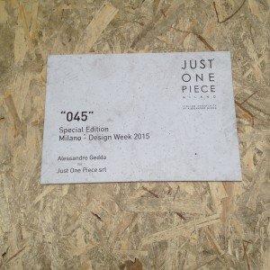 Installazione '045', Alessandro Gedda for Just One Piece