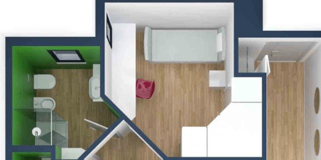 Ingrandire secondo bagno e cameretta. Progetto in pianta