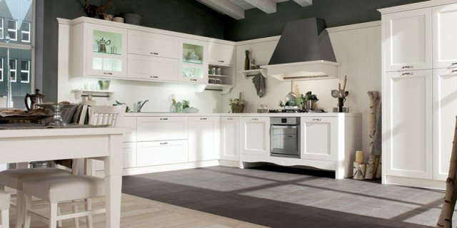 Cucine country chic soprattutto bianche o tinta legno cose di casa - Cucine classiche bianche ...