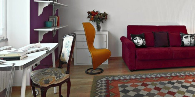 Una casa di 33 mq: monolocale d'effetto