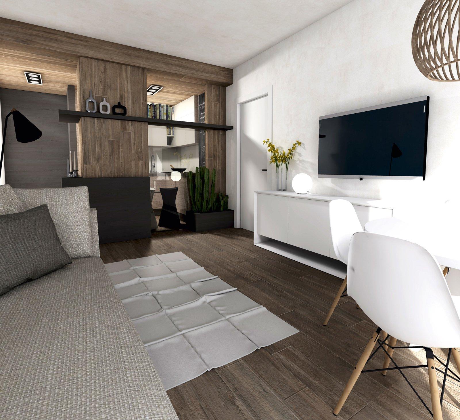 Ricavare la cucina nel soggiorno con una chiusura parziale ...
