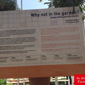 Why not in the garden - Expo Gate